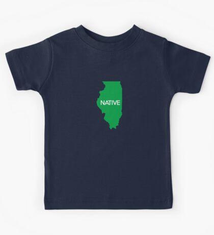 Illinois Native IL Green Kids Tee