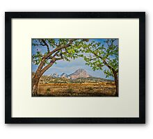 The mountain and the arch Framed Print