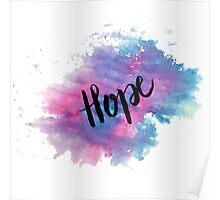 Hope handletering acuarela Poster