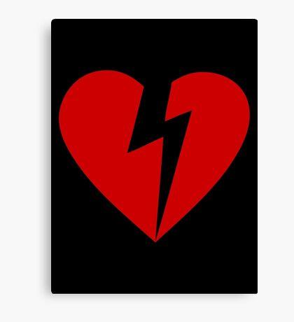 BROKEN HEART - RED Canvas Print