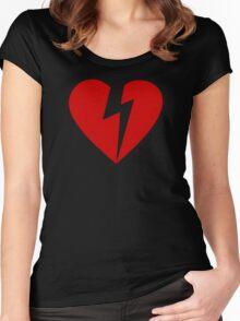 BROKEN HEART - RED Women's Fitted Scoop T-Shirt