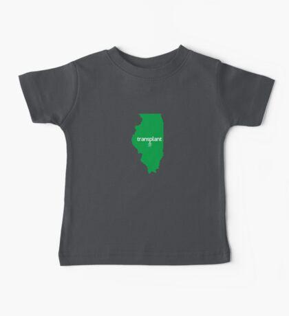 Illinois Transplant IL Green Baby Tee