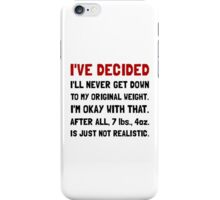 Original Weight iPhone Case/Skin