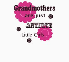 "Pink and Brown ""Grandmothers are Just Antique Little Girls"" T Shirt Women's Relaxed Fit T-Shirt"