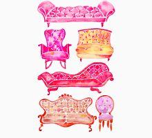 Victorian Lounge – Pink Palette Unisex T-Shirt