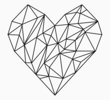 Geometric Heart Baby Tee