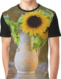 It's What Sunflowers Do - Flower Art Graphic T-Shirt
