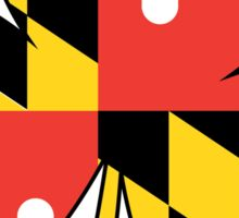 Maryland Flag Four Leaf Clover Sticker
