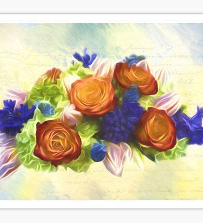 A Beautiful Life - Vintage Flower Art Sticker