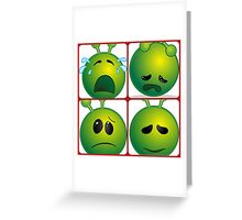 Disappointed Aliens Greeting Card