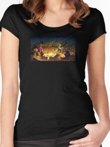 Monkey Island 2 - Campfire Stories Women's Fitted Scoop T-Shirt