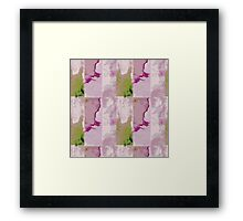 Watercolor Patchwork Framed Print