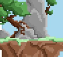 Pixel Landscape : Flying Island Sticker