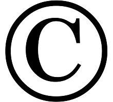 Copyright logo Photographic Print