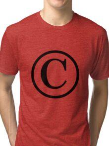 Copyright logo Tri-blend T-Shirt