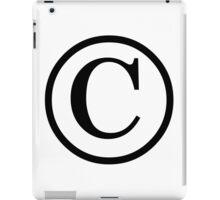 Copyright logo iPad Case/Skin