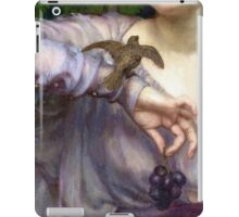 Closeup detail Victorian woman with bird, grapes, antique art iPad Case/Skin