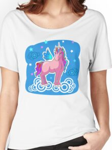 Magic Unicorn with wings on clouds Women's Relaxed Fit T-Shirt