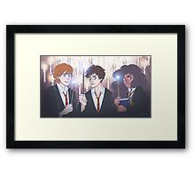The Golden Trio in the Great Hall Framed Print