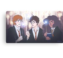 The Golden Trio in the Great Hall Canvas Print