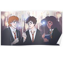 The Golden Trio in the Great Hall Poster
