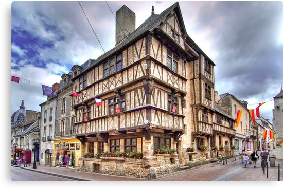 The oldest half-timbered house in Bayeux (13th c) by paolo1955