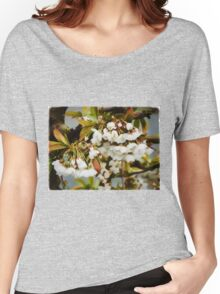 Flower Art - Apple Blossoms Women's Relaxed Fit T-Shirt
