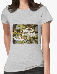 Flower Art - Apple Blossoms Womens Fitted T-Shirt