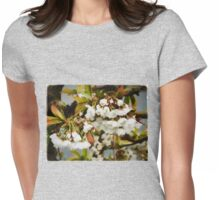 Flower Art - Apple Blossoms Womens Fitted T-Shirt