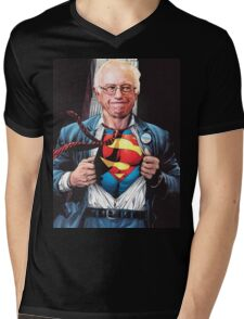 Super Bernie Mens V-Neck T-Shirt