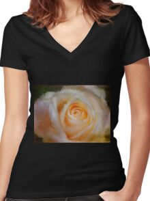 Feelings Of Flowers - Image Art Women's Fitted V-Neck T-Shirt