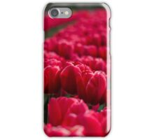 Sea Of Red Tulips iPhone Case/Skin