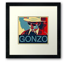 Gonzo: Hunter S. Thompson Framed Print