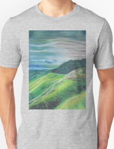 Green Hills Oil Pastel Drawing Unisex T-Shirt