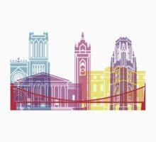 Bristol skyline pop Kids Tee