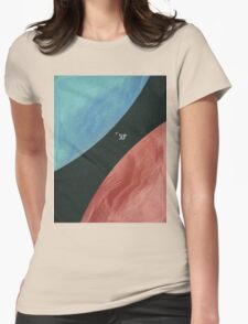 Earth collides with Mars Womens Fitted T-Shirt