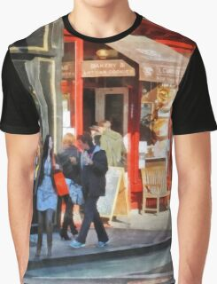 Manhattan NY - Greenwich Village Bakery Graphic T-Shirt