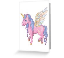 Magic Unicorn with wings Greeting Card