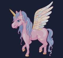 Magic Unicorn with wings Kids Tee