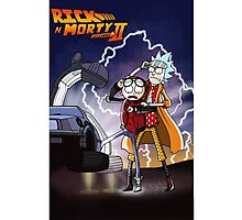 Rick And Morty Back To The Future Mash-Up Photographic Print