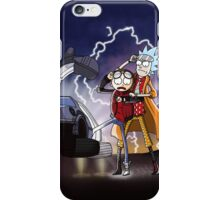 Rick And Morty Back To The Future Mash-Up iPhone Case/Skin