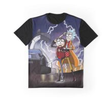 Rick And Morty Back To The Future Mash-Up Graphic T-Shirt