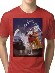 Rick And Morty Back To The Future Mash-Up Tri-blend T-Shirt