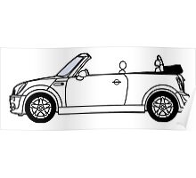 Mini, Cooper, Convertible, BMW, Motor, Car, Soft Top Poster