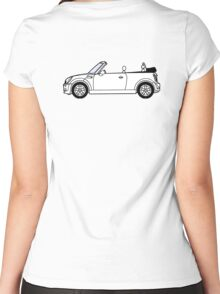 Mini, Cooper, Convertible, BMW, Motor, Car, Soft Top Women's Fitted Scoop T-Shirt