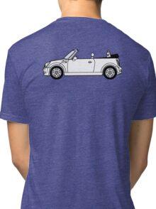 Mini, Cooper, Convertible, BMW, Motor, Car, Soft Top Tri-blend T-Shirt
