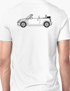 Mini, Cooper, Convertible, BMW, Motor, Car, Soft Top Unisex T-Shirt