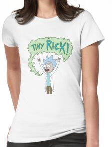 Tiny Rick, Rick And Morty Womens Fitted T-Shirt