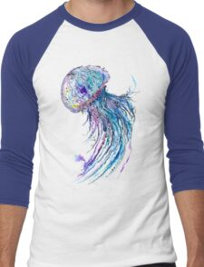 Jelly fish watercolor and ink painting Men's Baseball ¾ T-Shirt