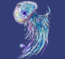 Jelly fish watercolor and ink painting Unisex T-Shirt